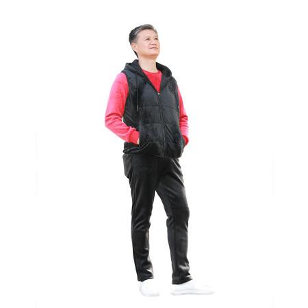 美国U.S.POLO ASSN.丝绒运动套装(新)·红色