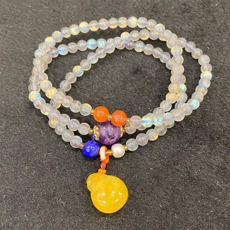 缔梵珠宝月光石三圈手串·月光石