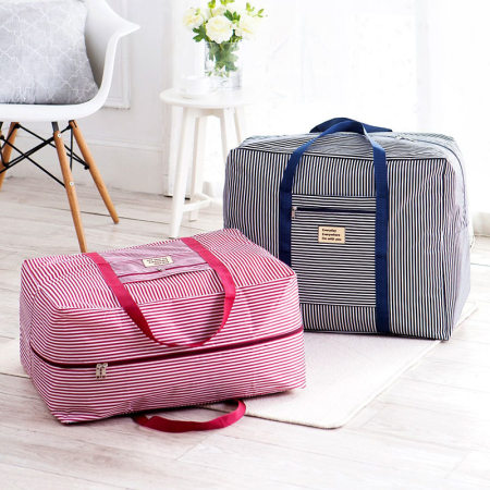 [JM]牛津布出差旅行居家收纳袋特大号(2件组合装)·蓝色粉色各一套