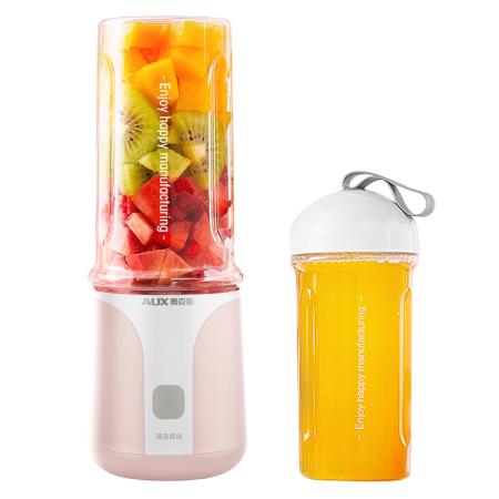 【随行榨汁机】奥克斯小型智能榨汁机出门便捷随身携带 HX-BL88 粉色·粉色