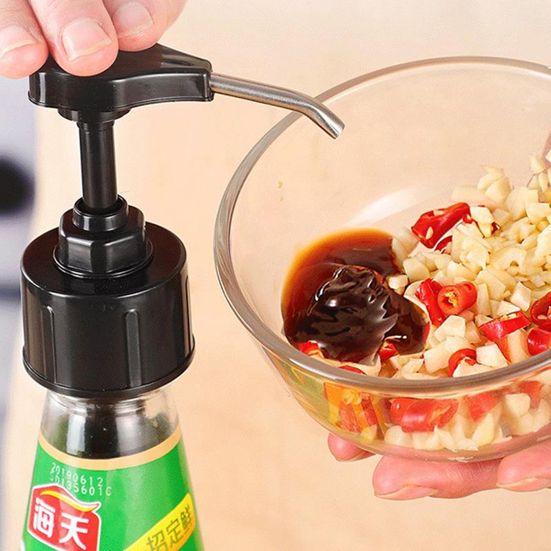 ssgp定量多用途厨房按压器+500ml高硼硅挤压瓶*2