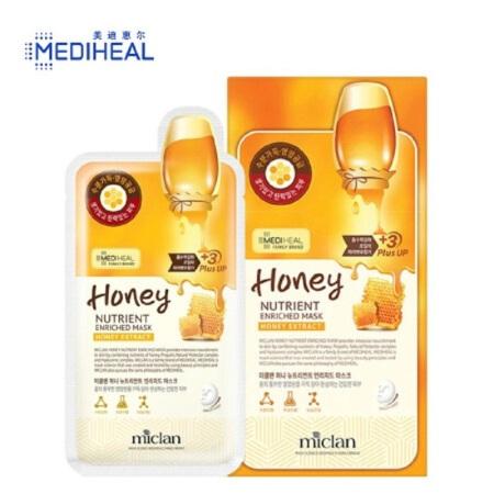 美迪惠尔(MEDIHEAL) 可莱丝面膜贴 蜂蜜营养面膜10片·2盒装