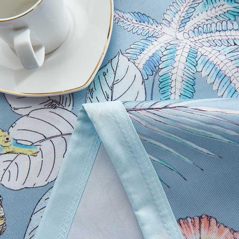 一梦床单式冰丝凉席三件套2.3*2.5m·落叶繁花 蓝