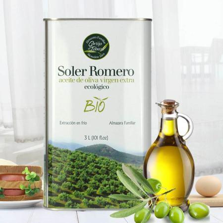 五国有机认证 皇家莎萝茉有机特级初榨橄榄油3L 天然酸度0.15物理冷榨