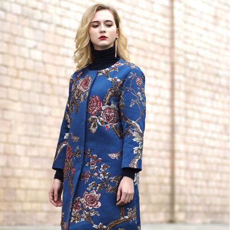 Prolivon 华贵珠蕊夹棉大衣(PL18258007)·蓝色