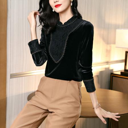 丁摩气质优雅打底衫AL213019·黑色