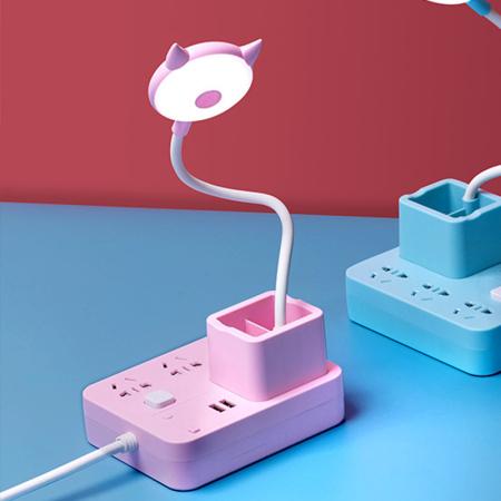 双贝带笔筒遥控小夜灯·粉色