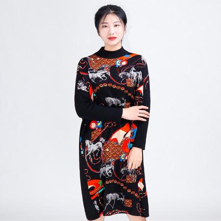 金典娜超奢款连衣裙·马纹款