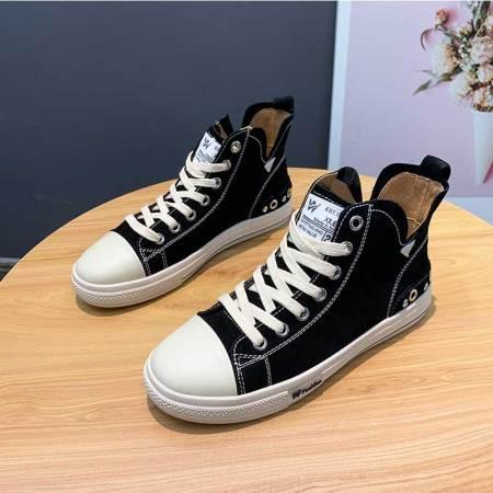 Garthphil 新款休闲平跟复古做旧学生百搭板鞋女·x313-2黑绒