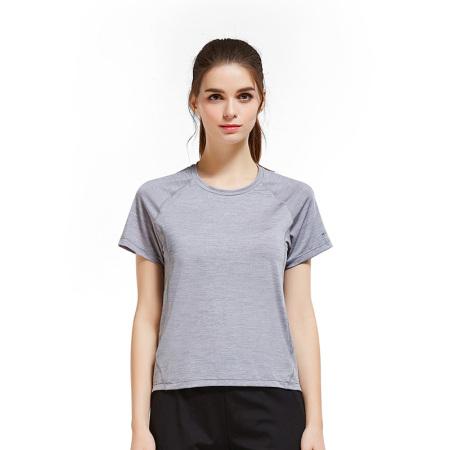 悍途男女短袖速干T恤夏季舒适休闲21699·浅灰