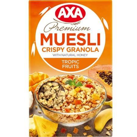 瑞典进口 AXA热带水果即食什锦麦片MUESLI 270g