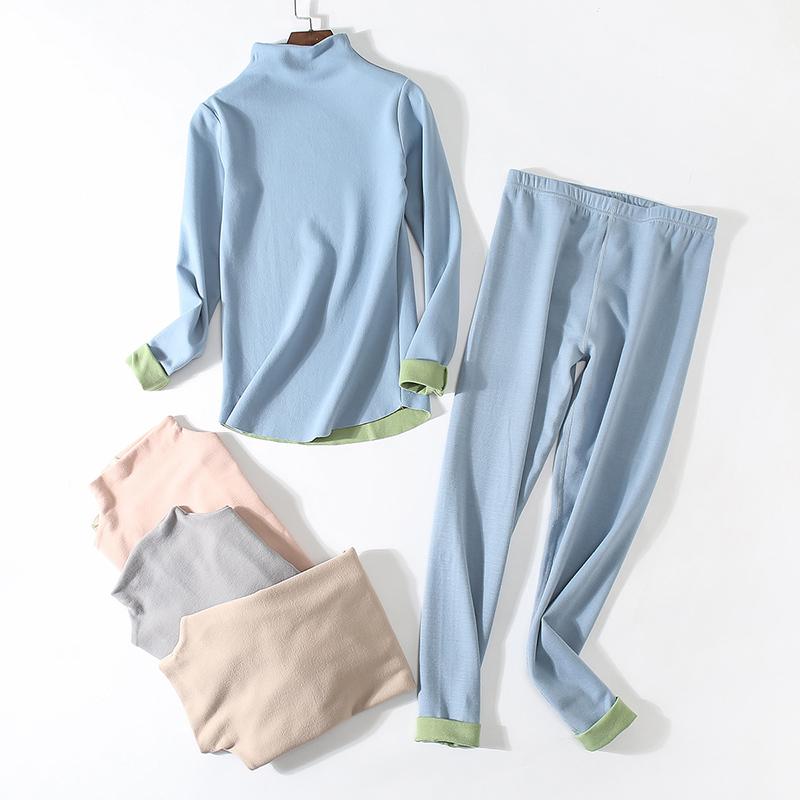 艾草德绒上衣+裤子·双色双绒发热套装·恒温36.8度 温暖舒适·健康养生
