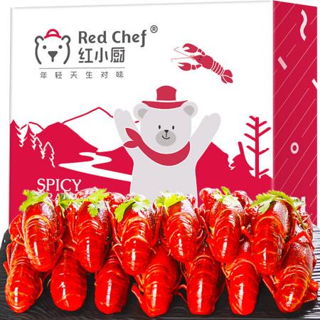 红小厨麻辣小龙虾4-6钱1800g 加热即食  麻辣口味