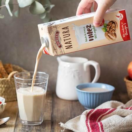 西班牙进口 伯爵大米核桃汁1升*2无乳糖不添加(每罐足量5个核桃)