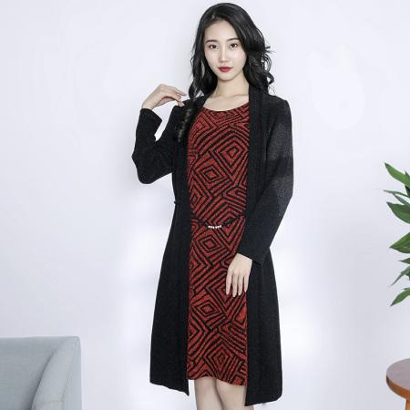金典娜华美气质连衣裙·红色