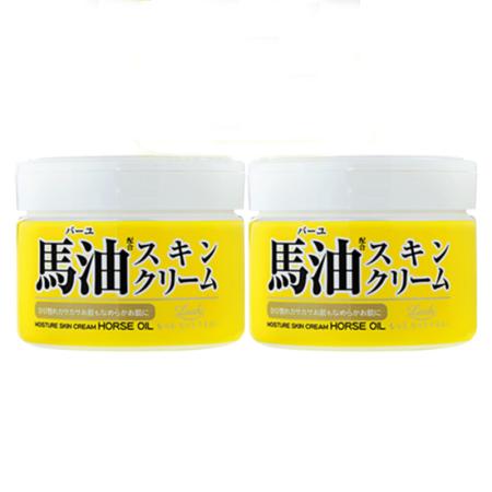 日本Loshi北海道马油面霜220ml*2
