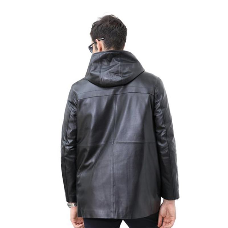 法国恺瑞贵族绅士可拆卸皮羽绒大衣(新)·黑色