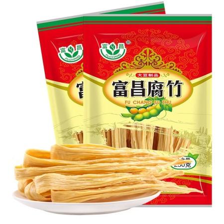富昌腐竹250g*6袋黄豆皮腐皮干货年货素食火锅配料油炸凉拌焖烧皆可