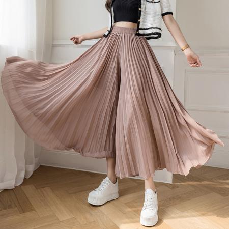 玉露浓 雪纺 大摆半身裙·粉色