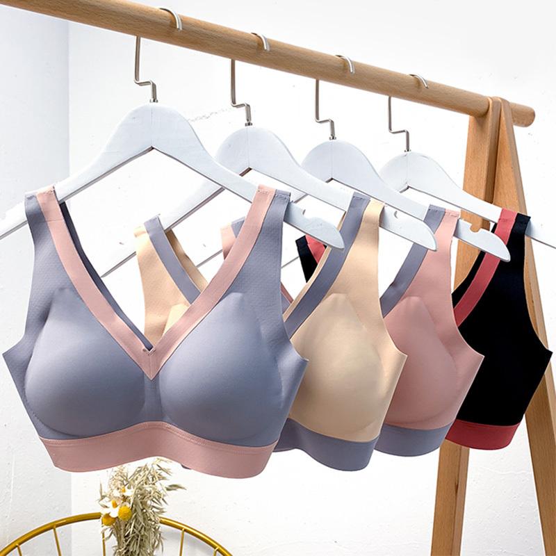 法系优雅内衣2件·按摩提托杯 3D舒适 聚拢 性感撞色深V 颜值健康升级·肤+灰
