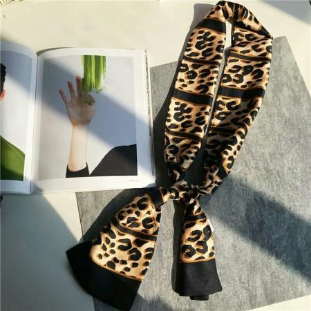 香港直邮 豹纹丝巾·卡其色
