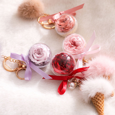 冰淇淋蛋筒钥匙扣永生花(配礼盒)