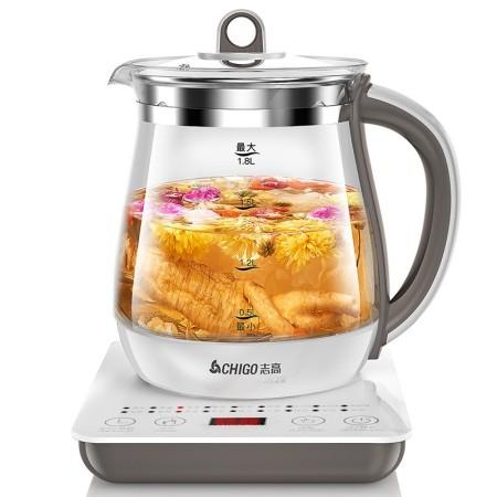 志高 养生壶多功能电热水壶 1.8L大容量 白咖色·图片色