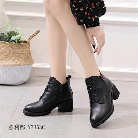 意利都新品靴子·7353·胎牛黑