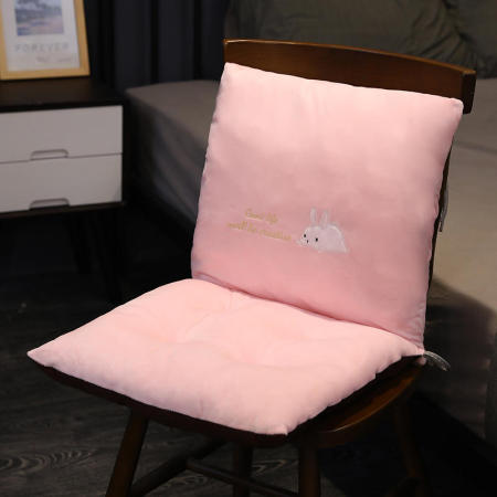 一梦短毛绒插手连体坐垫·兔子
