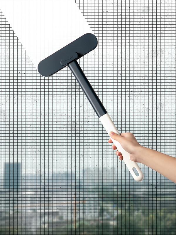 飞兔多功能免拆洗纱窗清洁刷家用擦玻璃刮2个装·白色