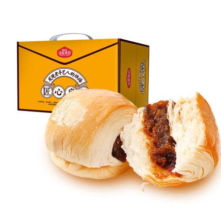 马家麦坊早餐面包1kg*2箱  (红豆手撕/枣馅夹心/无蔗糖)