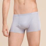 男士真丝双面针织内裤桑蚕丝中腰平角裤舒适透气HS9202*3件·米色+银灰+紫红
