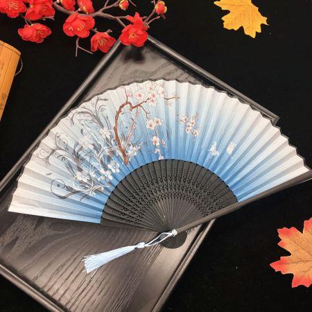 百年许氏 古风折扇女式扇子·蔚蓝微风