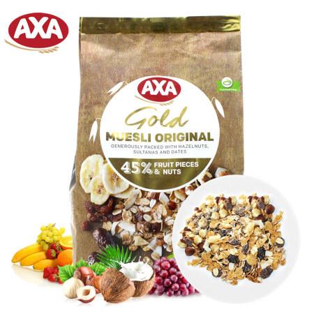 瑞典进口 AXA45%坚果水果什锦混合麦片750g