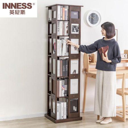 英尼斯(INNESS)实木旋转书架置物架·OAK