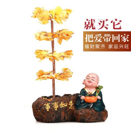 老冯记原矿蜜蜡事事如意发财树摆件(手工制作、高端大气、有档次)  共同