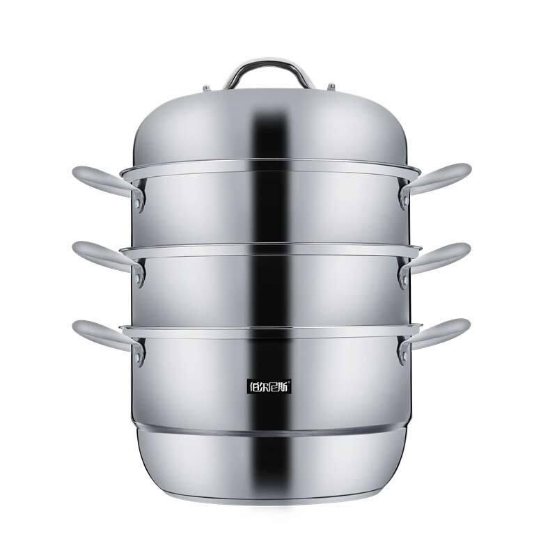伯尔尼斯 不锈钢复底蒸锅菲德堡三层蒸锅