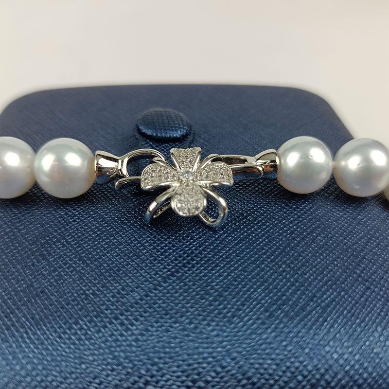岛上明珠 天然海水强冷光澳白珍珠项链10-12mm·澳白