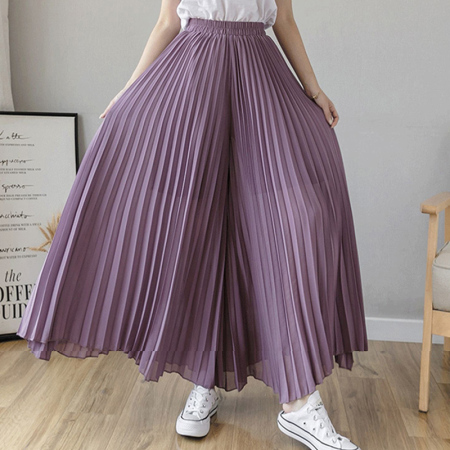 玉露浓 雪纺 大摆半身裙·紫色