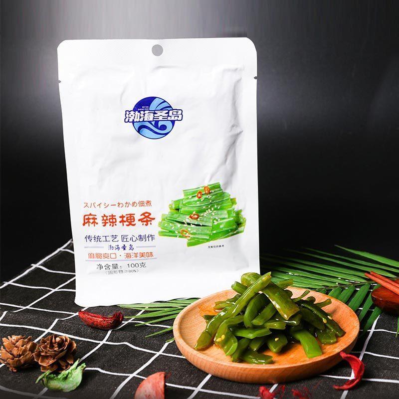 渤海圣岛即食麻辣梗条100g*8袋