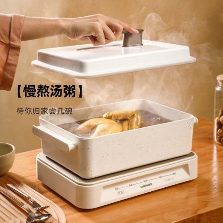 韩国大宇多功能烧烤料理机S11·白色