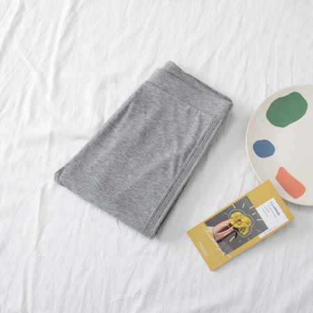 絮笈纯棉/莫代尔打底裤加肥加大200斤胖mm打底裤两件组·莫代尔9795浅灰色