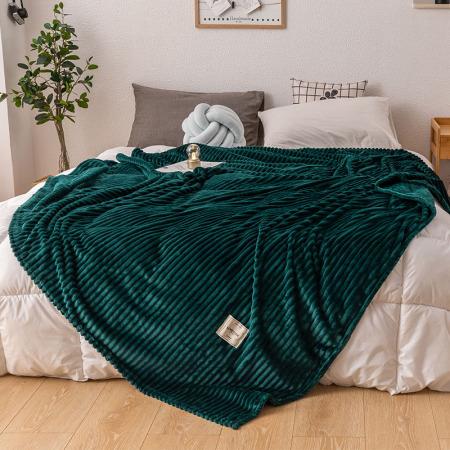 凯特之家牛奶绒毛毯·沉默绿