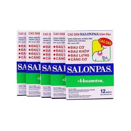 香港直邮 Salonpas 撒隆巴斯关节颈肩贴 12贴(5盒装)