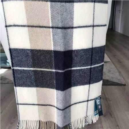 冰岛羊毛披肩(灰白格)