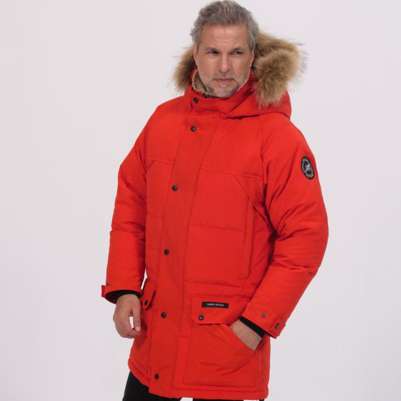加拿大SaintDyfan95%男士白鹅绒服(绗缝款)·红色