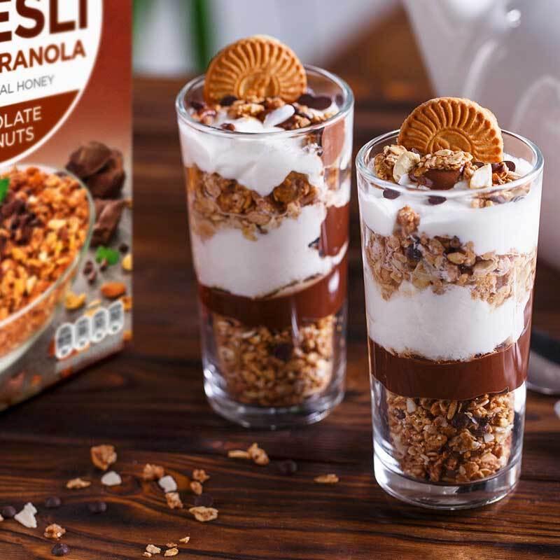 瑞典进口 AXA巧克力坚果即食麦片MUESLI 250g