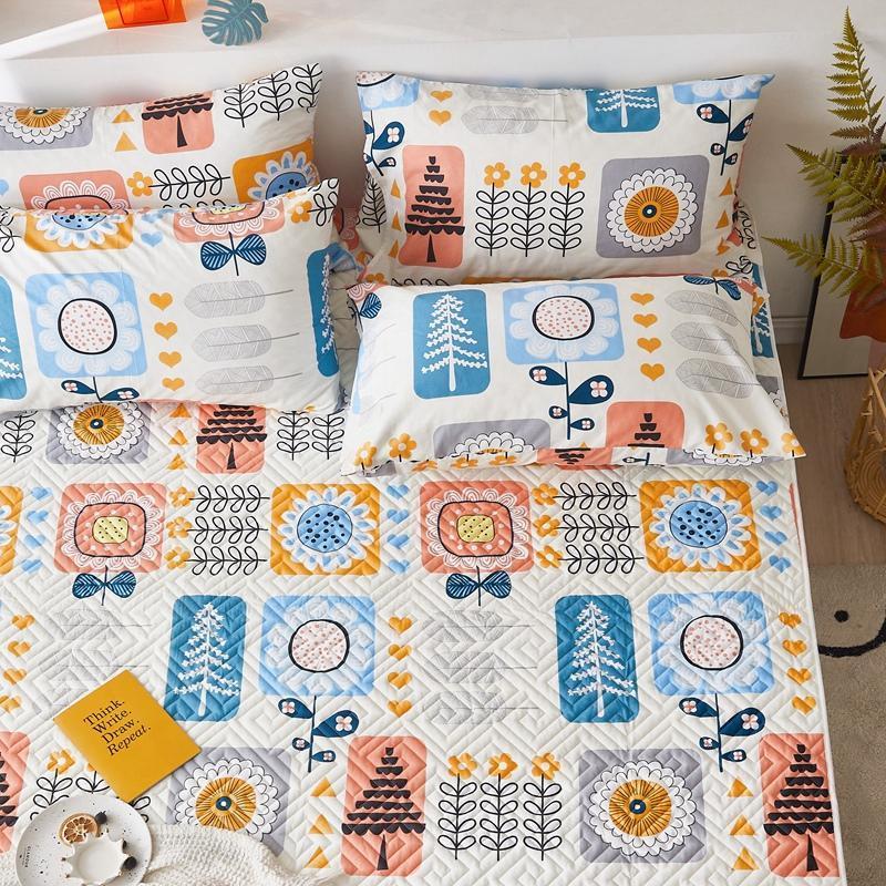 一梦全棉绗缝床护垫·畅游花海