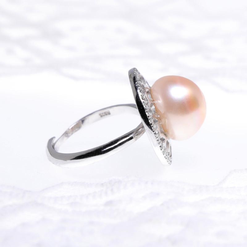 缔梵珠宝淡水珍珠12.4mm925银戒·淡水珍珠