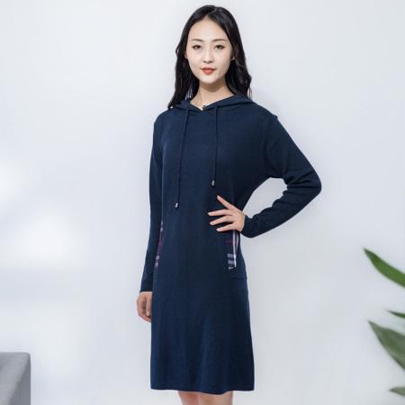 金典娜英伦格调连衣裙·深蓝色